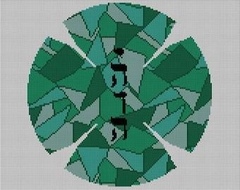 Mosaic Yarlmulke Needlepoint Canvas