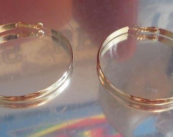 85 Cts 18k Gold Filled Hoop Earrings Yellow Gold Earrings 18k Gold Earrings Gold Filled Earrings Gold Jewelry Hoop Earrings Gift