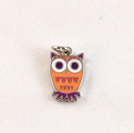 "Owl 1/2"" Enamel Charm"