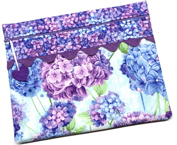 Purple Hydrangeas Cross Stitch Embroidery Project Bag