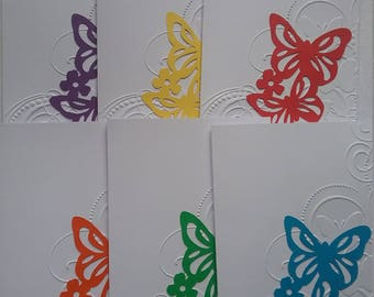 Set of 6 Notecards * Butterflies * Any Occasion