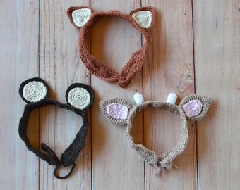 Woodland Animal Ears Crochet Headbands PATTERN PDF DOWNLOAD