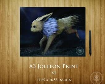 Jolteon A3 Poster