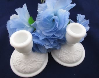 Imperial Glass Grape Candleholders Vintage Wedding  - FL