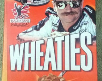Wheaties Dale Earnhardt Nascar Hall Of Fame cereal box 90s