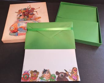 Muppets Stationary Vintage 1979 Hallmark Stationery Boxed Set