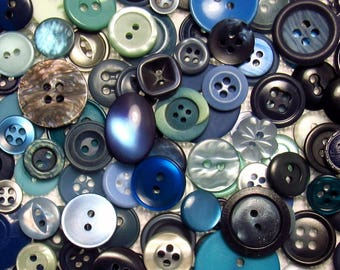 The Blue Button Assortment: A Variety Mix of 150 Vintage to Contemporary Buttons