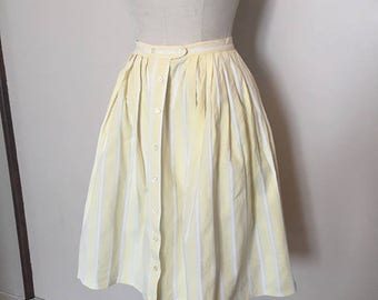 ON SALE 50s Yellow Striped Skirt