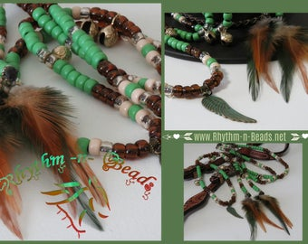 Rhythm Beads Necklace GREEN WITH ENVY, Horse Training, Mane Clips, Pony Beads, Speed Beads, Horse Necklace, Horse Beads, Horse Trail Beads
