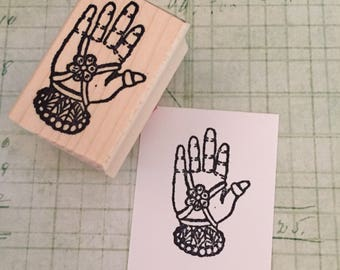 Decorated Hand Rubber Stamp