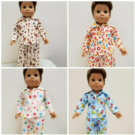 PJ'S for Logan. 18 Inch Doll American Handmade