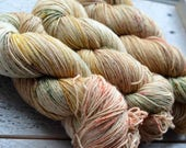 Hand Dyed Superwash Merino Wool Yarn - Fingering sock weight - Flowers in Your Hair, Sand in your Toes