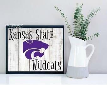 Kansas State Wildcats shiplap  photography print