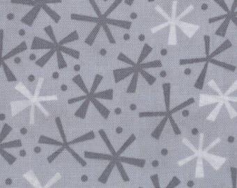 Jenn Ski Fabric, Grey Jacks, Ten Little Things by Jenn Ski for Moda, 30505-29