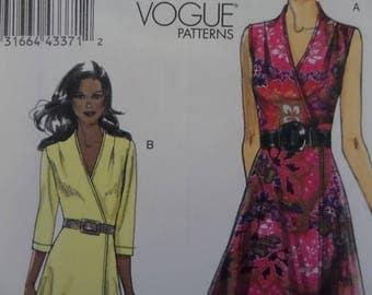 WRAP DRESS Pattern • Vogue 8646 • Miss 14-22 • Wrap Sundress • V-Neck Wrapped Dress • Sewing Patterns • Vogue Patterns • WhiletheCatNaps