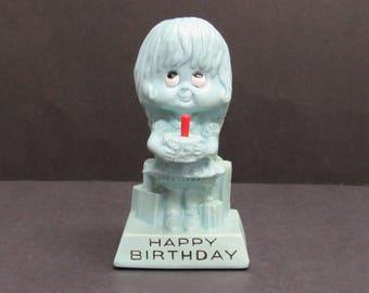 Vintage OW&R Berries 1972 Birthday Girl Figurine (E9800)