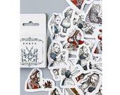 Alice in Wonderland Die Cut Stickers Set