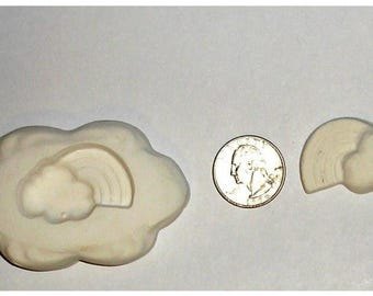 Nice Glass Fusing, Glass Frit Casting, Rainbow cloud Jewelry mold