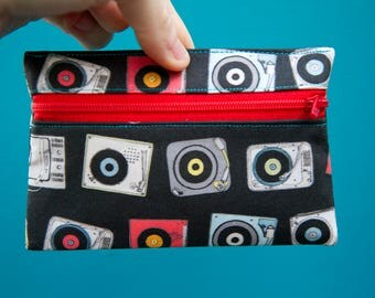 Record Player Coin Purse