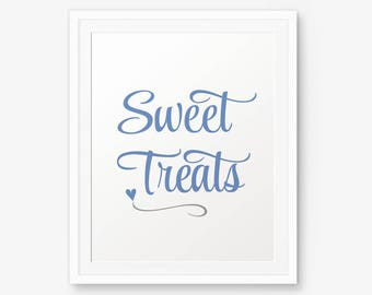 Sweet Treats Printable, Boy Nursery Printable, Baby shower sign, Boy Nursery Art, Baby Boy Party Sign, Printable Party decor