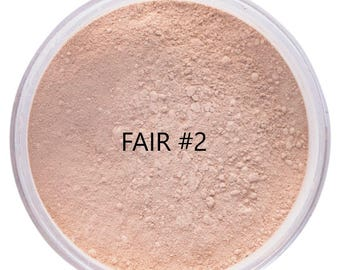 FAIR #2 Foundation Organic Mineral Foundation Beauty Cosmetics Vegan Gluten Free
