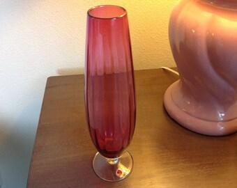 Vintage collectible vase, deep rose color