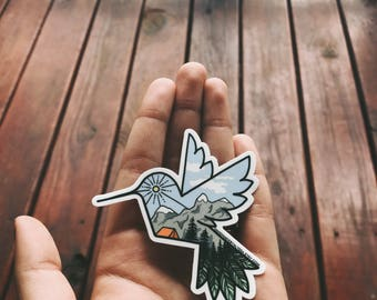 "Hummingbird Logo Vinyl Sticker - 3""x3"""
