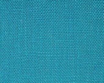 Burlap Bahama Turquoise  Sultana Hi Quality tight weave Burlap 57W Jute BTY Cut to Order