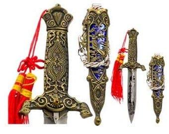 Eastern Dragon Athame dagger pagan ritual druid earth magic