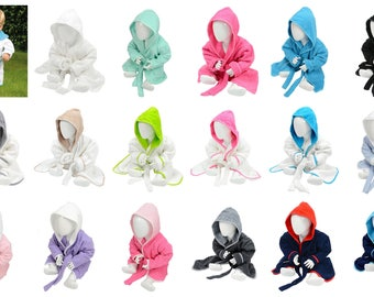 Personalized Hooded baby bathrobe, toddler bathrobe, terrycloth robe, personalized terry baby robe, quality cotton robes,