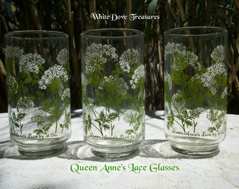 Vintage Queen Anne's Lace Glass ~ Libby Glassware