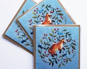 Fox Kit Greetings Card