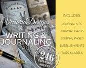 Writing & Journaling MEGA Pack Printable Junk Journal Pages Paper Crafting Scrapbook Embellishment Bookmaking Paper Pack Sheet - VDMPJO1640