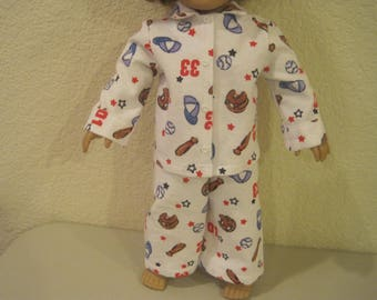 """18"""" doll clothes Boy pajamas to fit American Girl dolls"""