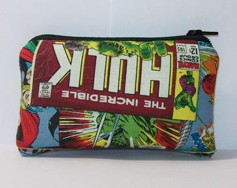 """Pipe Pouch, Pipe Case, Comic Superheroes, Pipe Bag, Padded Pipe Pouch, Zipper Pouch, Smoke Bag, Weed Accessory, 420, Nerd Gift - 4"""" MINI"""