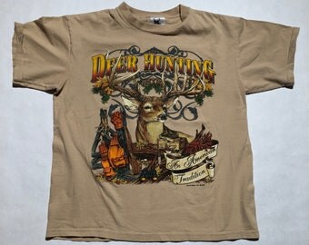 "Vintage Deer Hunting ""An American Pastime"" T-Shirt"