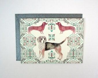 A6 Card - Beagle and Dachshunds