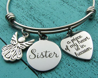 sister memorial gift, remembrance jewelry, sympathy gift, memorial bracelet, loss of sister bracelet, in memory of sister, loss of loved one