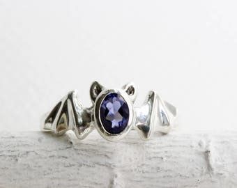 Bat Ring,Iolite and Sterling Silver, Bat Fine Jewelry