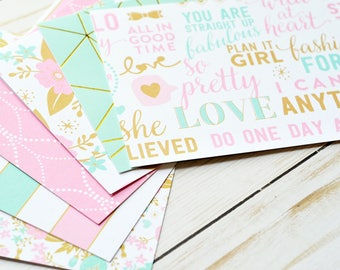 Girl Power Note Cards // Set of 6 // Blank Cards // Encouragement // Thinking of You // Just Because // Tropical Stationary