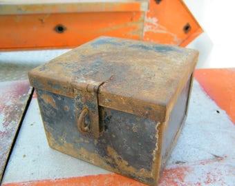Rusty Old Industrial Factory Machinist Steampunk Storage Trinket Box