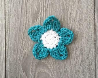 Ready to Ship - Crochet Flower Hair Clip