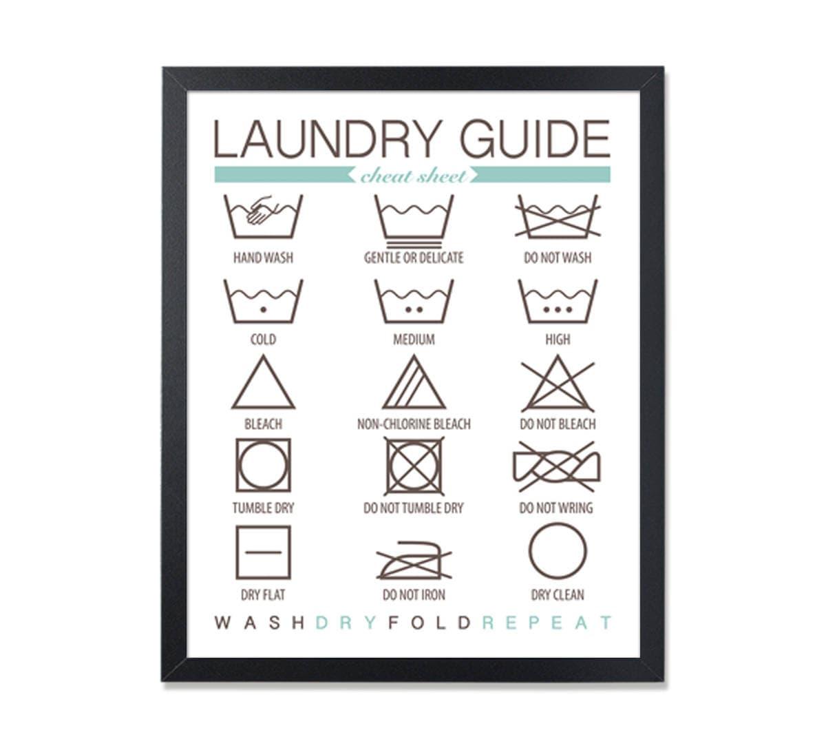w sche guide wall art w sche anleitung w sche symbole waschen. Black Bedroom Furniture Sets. Home Design Ideas
