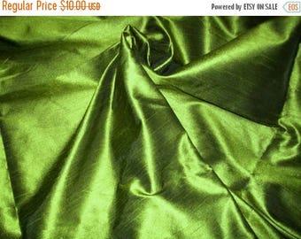 15% off on One yard of olive green dupioni silk blend