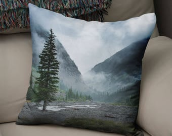 pine tree pillow tree throw pillow colorado decor rocky mountains nature pillow