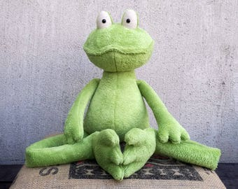 XXL or Medium Green Frog Prince stuffed plush toy