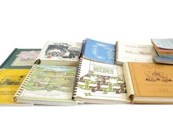 Church Cookbook Lot School Cook Book Community Cookbooks Fundraising Regional