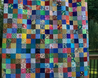 Patchwork Queen Quilts -  Patchwork Blankets - Double Quilts  - Traditional Quilts -  Reversible Quilts -  Ready to Ship - Quilts