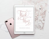 Thick & Thin Procreate Brush - A Calligraphy Lettering Brush for the Procreate App