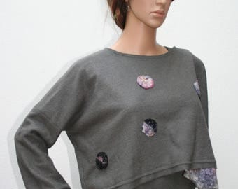 """Boiled wool top and grey and pink felt """"In my book of dreams..."""""""